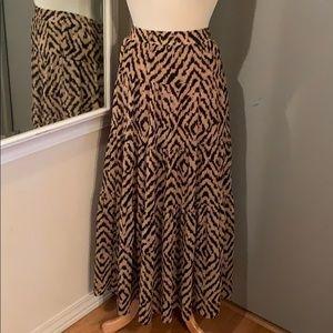 Leopard Loft maxi skirt